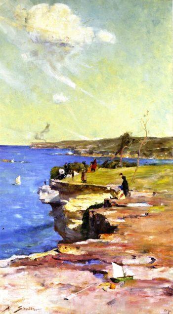 The Blue Pacific | Sir Arthur Streeton | oil painting