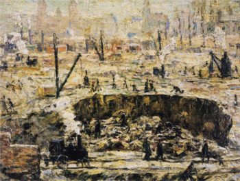 Excavation Penn Station | Ernest Lawson | oil painting