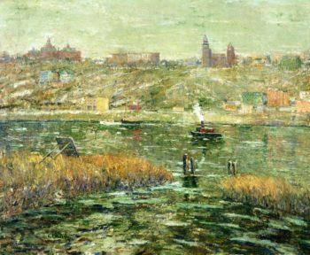 Harlem River | Ernest Lawson | oil painting