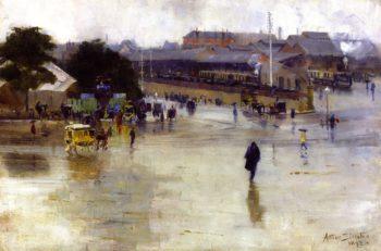 The Railway Station Redfern | Sir Arthur Streeton | oil painting