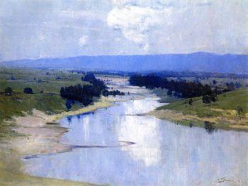 The River   Sir Arthur Streeton   oil painting