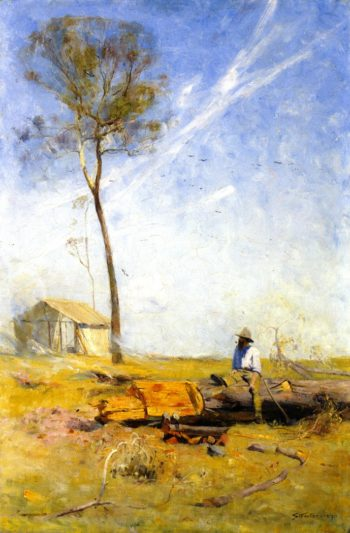 The Selector's Hut   Sir Arthur Streeton   oil painting