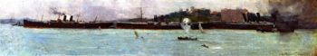 The Three Liners   Sir Arthur Streeton   oil painting