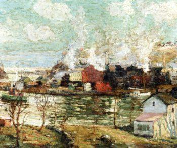 Spuyten Duyvil Creek | Ernest Lawson | oil painting