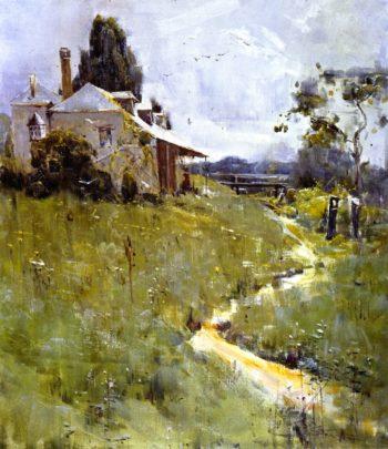 Traveller's Rest   Sir Arthur Streeton   oil painting