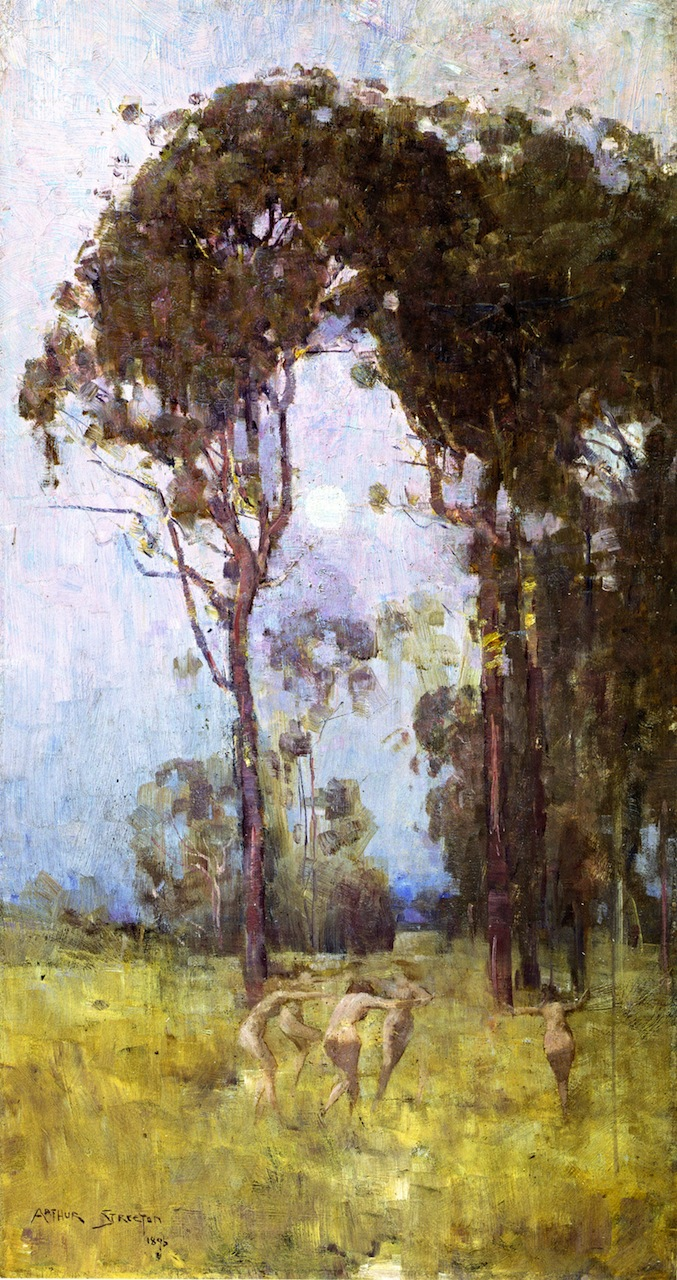 What thou amongst the leaves hast never known 1   Sir Arthur Streeton   oil painting