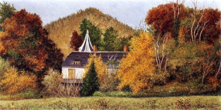 Autumn Scene in the North Carolina Mountains   William Aiken Walker   oil painting