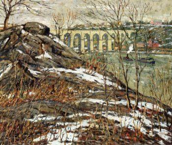 Harlem River Winter 2 | Ernest Lawson | oil painting