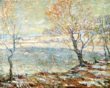 Inwood on Hudson In the Snow | Ernest Lawson | oil painting