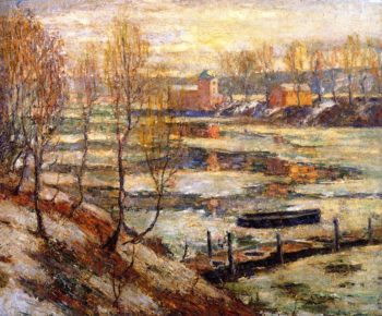 In the River | Ernest Lawson | oil painting