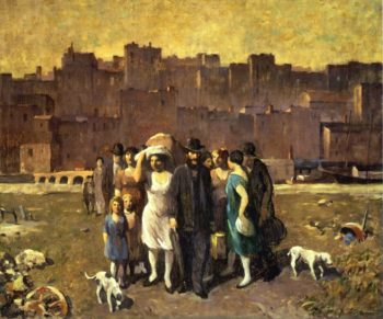 The Exodus | Robert Spencer | oil painting