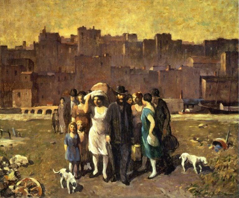 The Exodus | Robert Spencer | oil painting