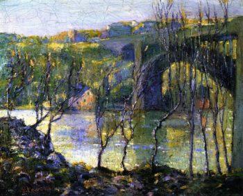 Washington Bridge Harlem River | Ernest Lawson | oil painting