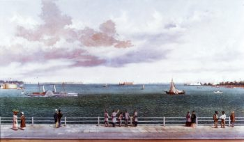 Bombardment of Fort Sumter Charleston Harbor Charleston South Carolina 1863 | William Aiken Walker | oil painting