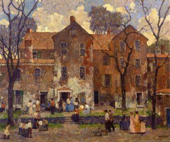The Barracks   Robert Spencer   oil painting