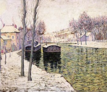 Barges on the Seine | Ernest Lawson | oil painting