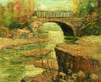Aqueduct at Little Falls New Jersey | Ernest Lawson | oil painting