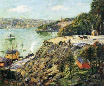 Across the River New York | Ernest Lawson | oil painting