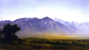 Indian Camp at the Base of the Wasatch Range | Gilbert Munger | oil painting