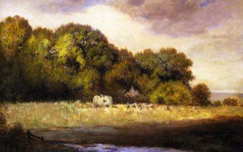 Cazenovia Hay Field | Gilbert Munger | oil painting