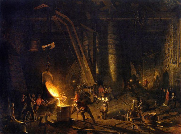 The Gun Foundry | John Ferguson Weir | oil painting
