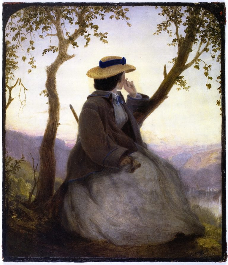 Portrait of Mary French | John Ferguson Weir | oil painting