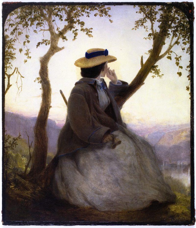Portrait of Mary French   John Ferguson Weir   oil painting