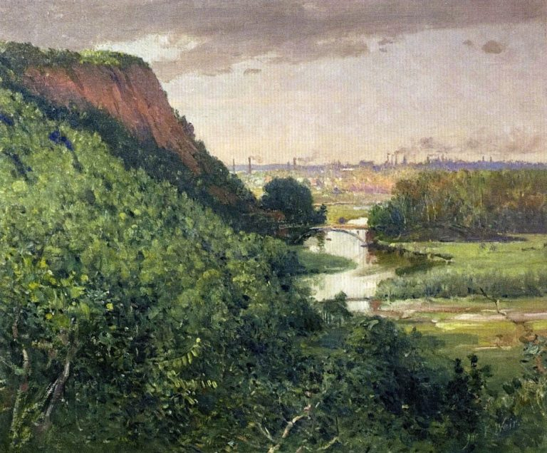 New Haven from East Rock | John Ferguson Weir | oil painting