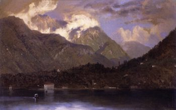 Lake Como   John Ferguson Weir   oil painting