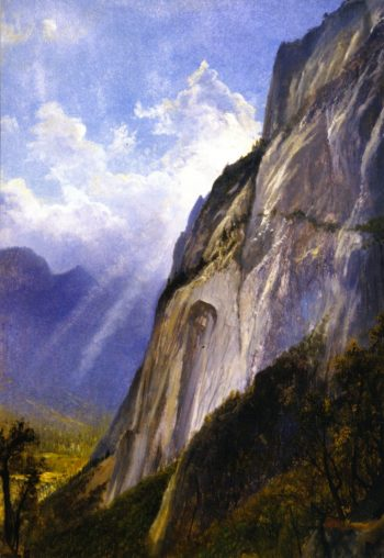 Yosemite Valley from a Cliff | Gilbert Munger | oil painting