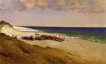 Beach at Easthampton | John Ferguson Weir | oil painting