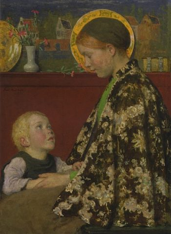 Young Mother | Gari Melchers | oil painting