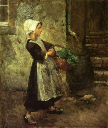 The Vegetable Girl | Gari Melchers | oil painting
