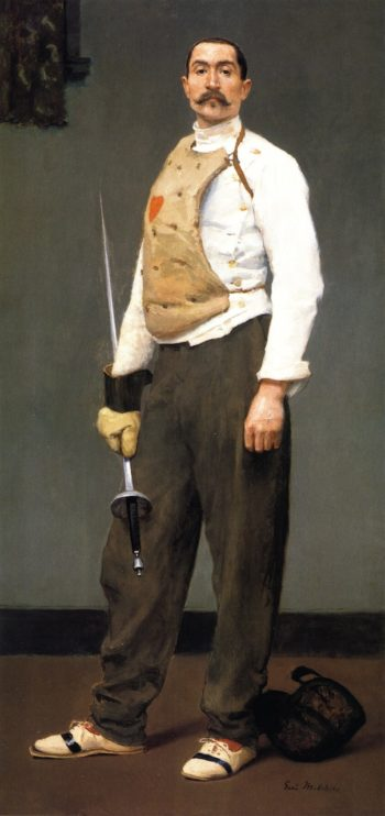 The Fencing Master | Gari Melchers | oil painting