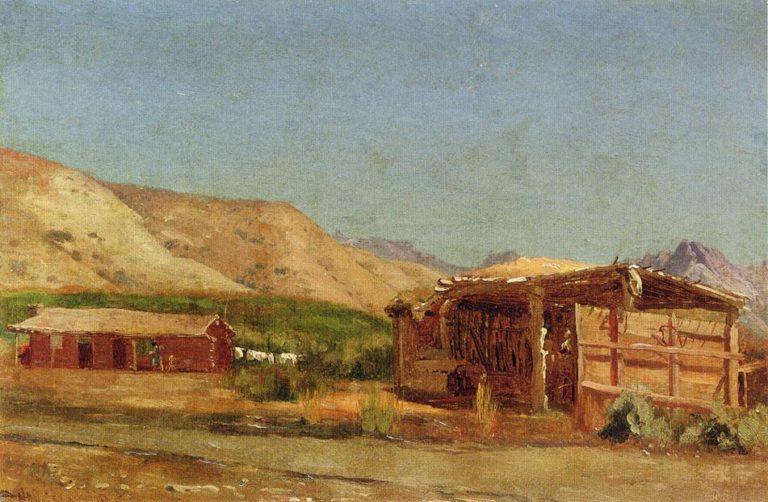 Hamilton's Ranch Nevada | Jervis McEntee | oil painting
