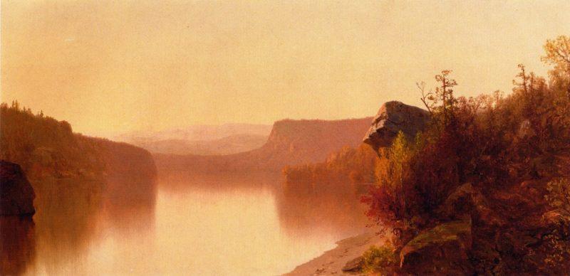 Autumn Lake Scene | Jervis McEntee | oil painting