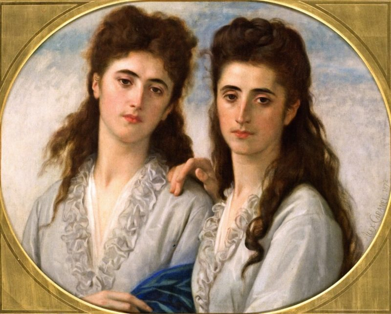Sophie and Berthe Cabanel | Alexandre Cabanel | oil painting
