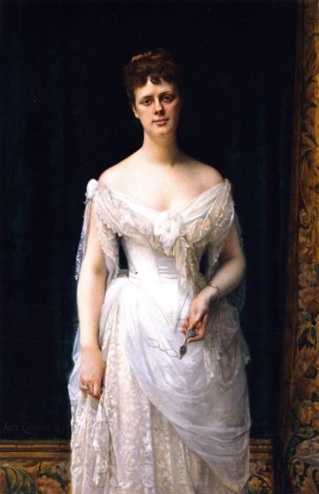 Mary Frick Garrett (later Mrs. Henry Barton Jacobs) (sketch) | Alexandre Cabanel | oil painting