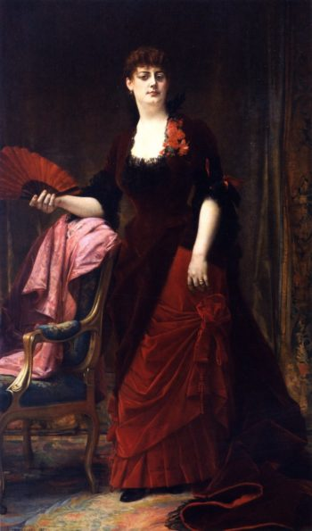 Mrs Collis Potter Huntington | Alexandre Cabanel | oil painting