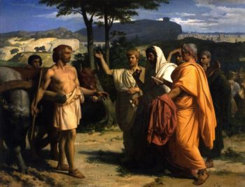 Envoys of the Senate Offer the Dictatorship to Cincinnatus | Alexandre Cabanel | oil painting