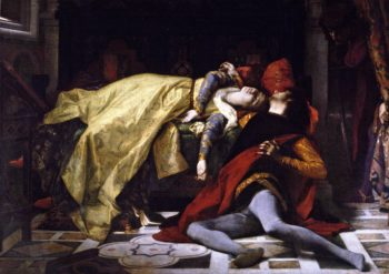 Death of Francesca da Rimini and Paolo Malatesta | Alexandre Cabanel | oil painting