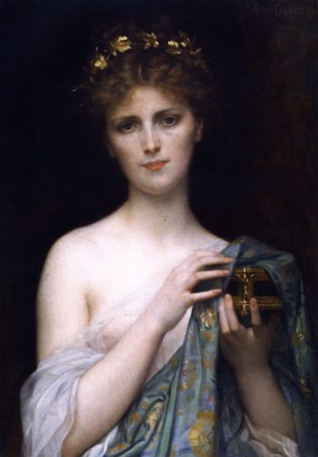 Christina Nilsson as Pandora | Alexandre Cabanel | oil painting