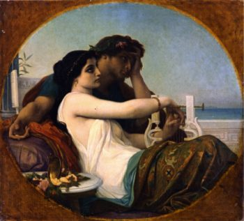 Boniface and Aglaia | Alexandre Cabanel | oil painting