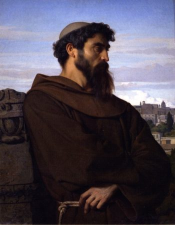 A Thinker Young Roman Monk   Alexandre Cabanel   oil painting
