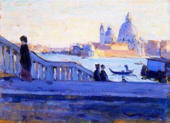La Salute from the Ponte della Paglia Venice | Clarence Gagnon | oil painting