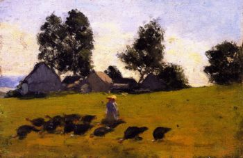 Landscape at Saint Joachim | Clarence Gagnon | oil painting