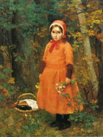 Little Red Riding Hood | Gari Melchers | oil painting