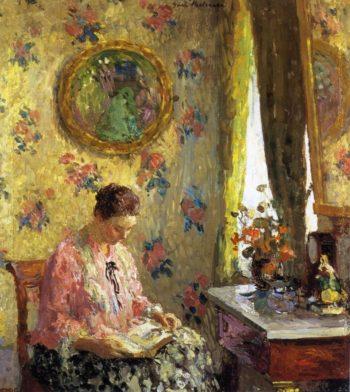 Lady Reading   Gari Melchers   oil painting
