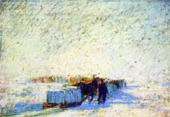 Ice Bridge | Clarence Gagnon | oil painting