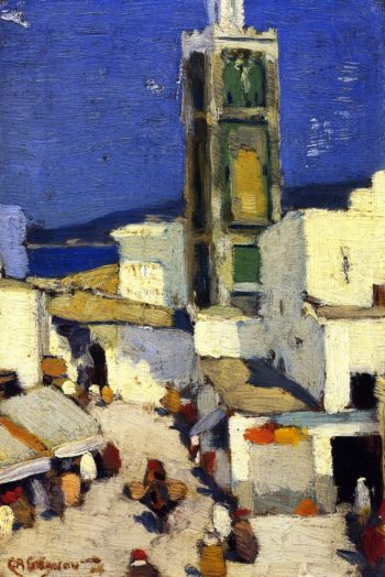 Great Mosque Morocco | Clarence Gagnon | oil painting